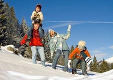 4 zabaw zima Zdjęcia Stock