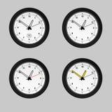 4 zegarka Obrazy Royalty Free