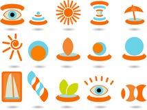 4 zestaw logo Obrazy Royalty Free