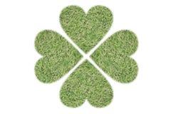 4 zielony serce Zdjęcie Royalty Free