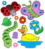 4 zwierząt kolekcja mała Obrazy Stock