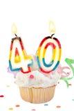 40ά γενέθλια στοκ φωτογραφία