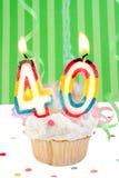 40ά γενέθλια στοκ εικόνες