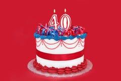 40ό κέικ Στοκ εικόνα με δικαίωμα ελεύθερης χρήσης