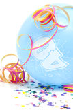 40个气球生日蓝色编号 免版税库存图片
