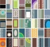40 вертикальных визитных карточек иллюстрация штока
