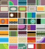 40 горизонтальных визитных карточек Стоковые Изображения