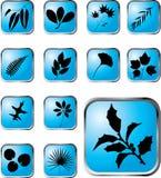 40 застегивают x установленный листьями Стоковое Изображение