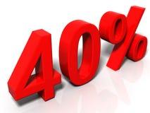 40% Stock Afbeelding
