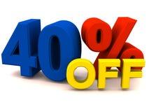 40 av procent Arkivfoton