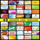 40 cartes de visite professionnelle de visite Images libres de droits