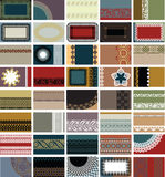 40 cartes de visite professionnelle de visite horizontales Images libres de droits