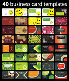40 Colorful Business Card Vectors Stock Photography