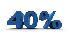 40% d'isolement Illustration Stock