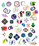 40 designelement royaltyfri illustrationer