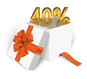 40% discount concept Royalty Free Stock Image