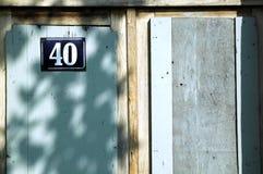 40 door. Door with number 40 Royalty Free Stock Photo