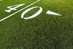 40 futbol polowych linii jardów Fotografia Stock