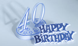 40. Geburtstag Stockbild