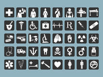 40 graphismes médicaux Images stock