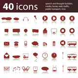 40 icons: media, home, traffic, web Stock Photography