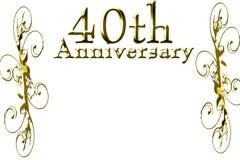 40. Jahrestag lizenzfreie abbildung