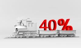 40% Korting Royalty-vrije Stock Foto