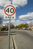 40 Is Limit. Sign of 40 KM/H Speed limit Stock Photography