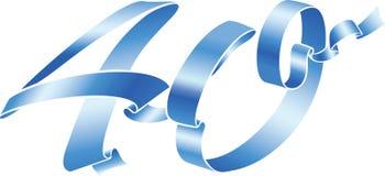 40 niebieskie wstążki Fotografia Stock