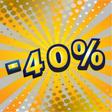 -40 percent discount Stock Image