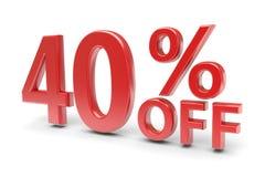 40 percent discount Stock Photos