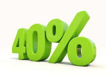 40% percentage rate icon on a white background Stock Photo