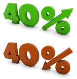 40 Prozent Stockfoto
