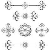 40 rozdzielacza linia prętowa ozdobnych royalty ilustracja
