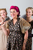 40's singing group Royalty Free Stock Image