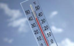 40 tło pokazywać niebo termometr c Zdjęcie Stock