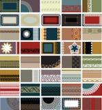 40 tarjetas de visita horizontales Imágenes de archivo libres de regalías