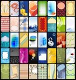 40 verticale adreskaartjes Stock Foto