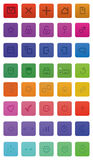 40 web icons. Mate icons user icons great for web,application Stock Photography
