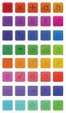40 Webpictogrammen stock illustratie