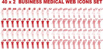 40 x 2 Business Medical Icons Stock Photo
