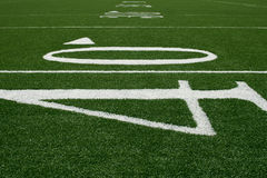 40-yard Line. American football field at the 40-yard line Stock Photography
