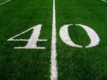 40 Yard Line. On Football Field Royalty Free Stock Photos