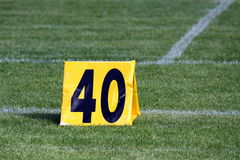 40 yard line Stock Photo