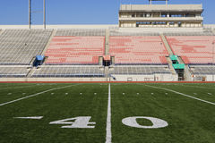 40 Yard Line On American Football Field Royalty Free Stock Photos