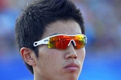 400韩国人米停放太阳镜 免版税库存照片