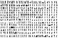 400 людей зажима arround деятельностей различных иллюстрация вектора