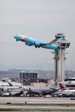 400 737 Boeing Disneyland magia obraz stock