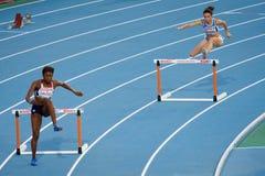 400 m Hurdles women Stock Photo