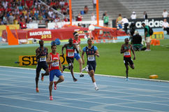 400 meters final on the 2012 IAAF World Junior Stock Photo